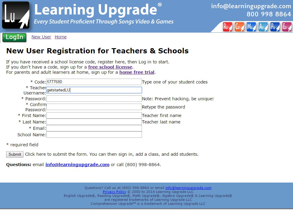 Getting Started: Creating a Username, Adding Students, and