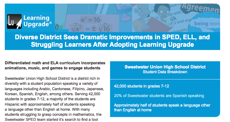 Diverse District Sees Dramatic Improvements in SPED, ELL, and ...