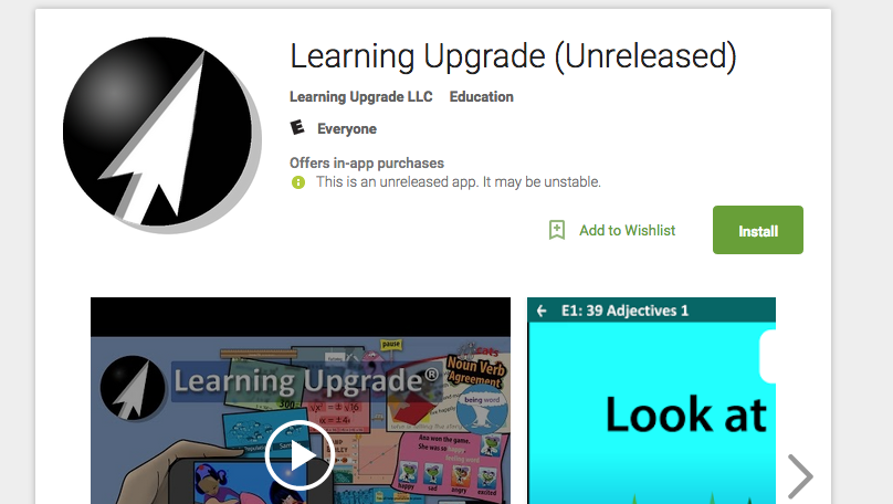 Learning Upgrade App Google Play Store