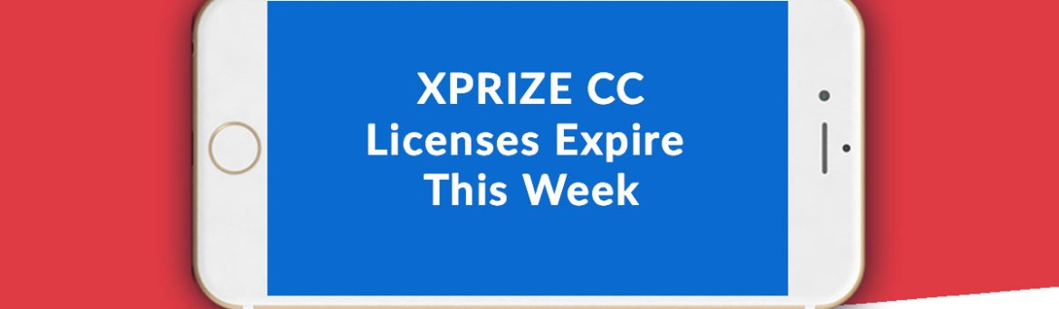 XPRIZE Communities Competition Licenses Expire This Week